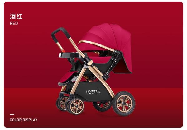 ML BEBE Baby stroller Front Back facing, 4 wheels shock absorber foldable compact can lay flat suitable for new born Singapore