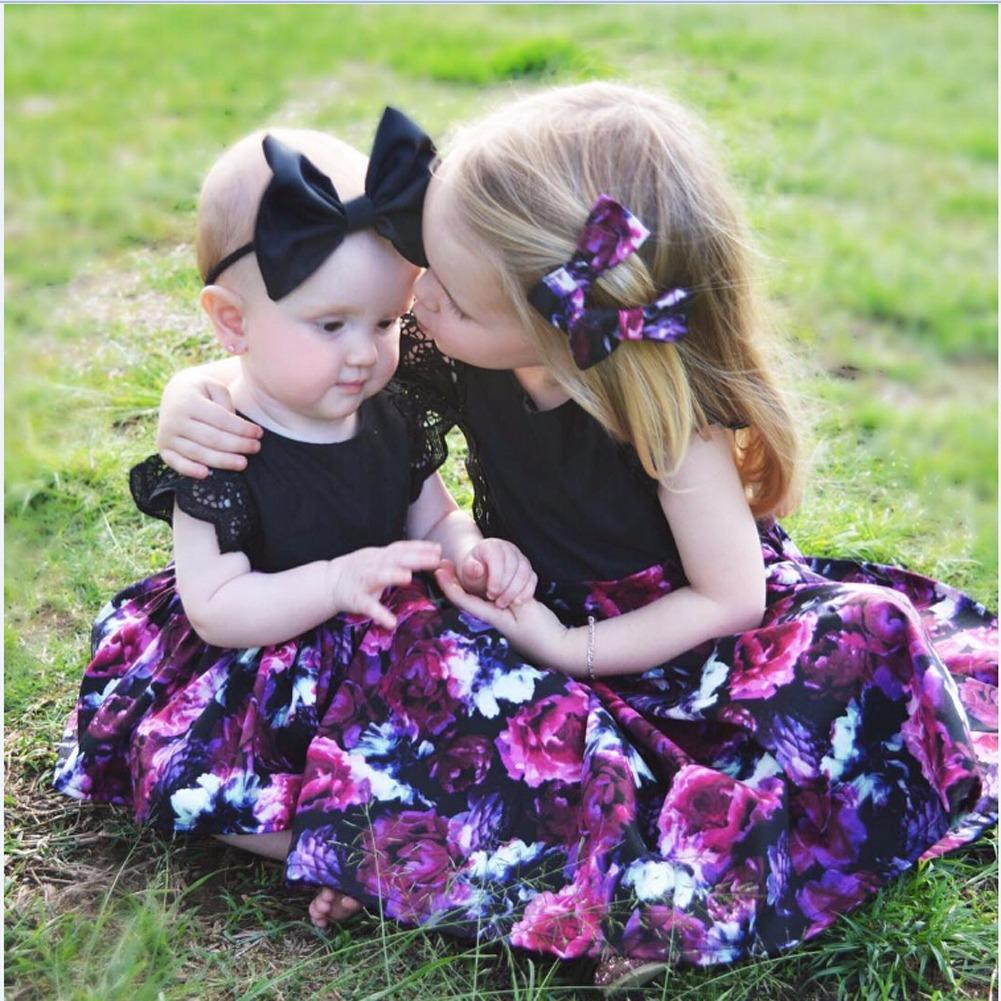 Who Sells Toddler Kid Baby G*rl Sister Matching Floral Jumpsuit Romper Dress Outfits Set Intl Cheap