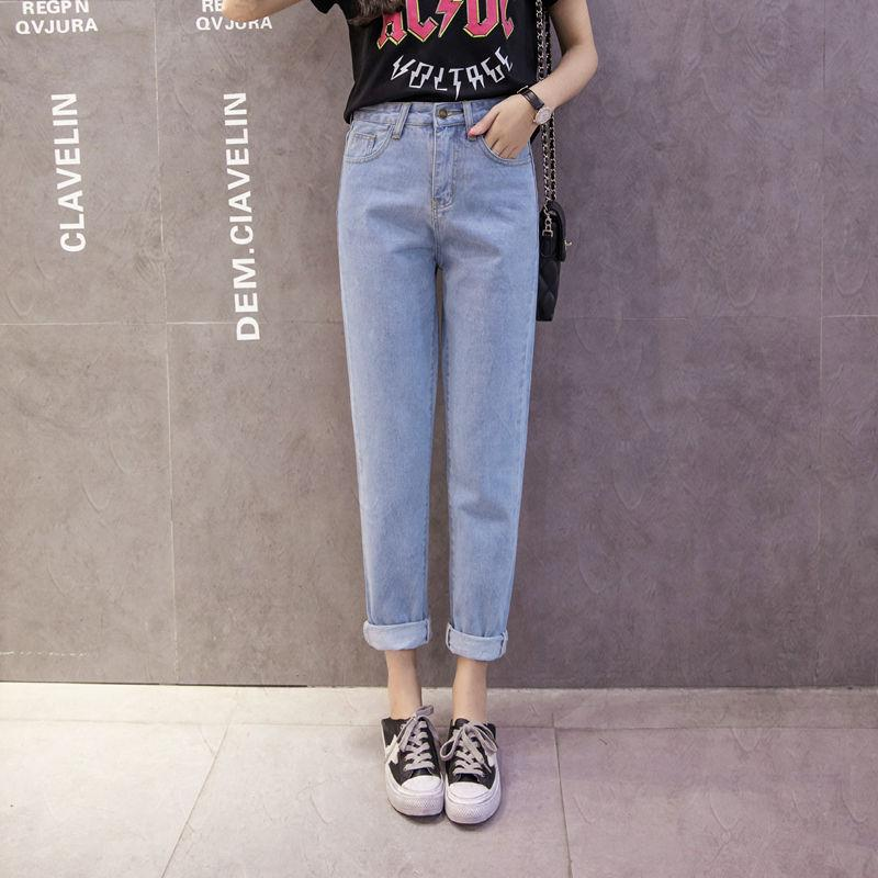 Jeans Loose Female Korean Style Students Autumn Vintage Hong Kong Flavor Pants BF Versatile Harajuku Harem