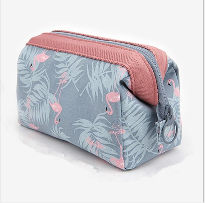6a22e86e2905 Flamingo cosmetic pouch brushes pouches travel functional toiletries makeup  oragniser storage box