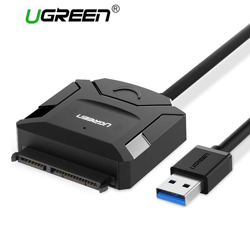 Compare Ugreen Sata To Usb Adapter Usb 3 2 Cable To Sata Converter For Samsung Seagate Wd 2 5 3 5 Hdd Ssd Hard Disk Usb Sata Adapter Eu Plug Intl Prices