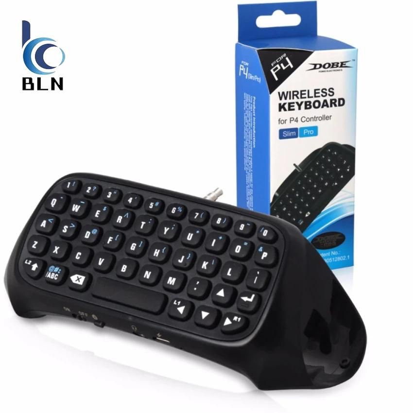 Brand New 【Bln Gaming】Tp4 008 Mini Bluetooth Wireless Chatpad Keyboard Keypad Ps4 Slim Ps4 Pro Console Gamepad