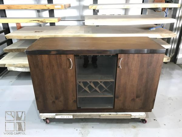 Wood Capitol Natural Solid Wood TV Console and Cabinet