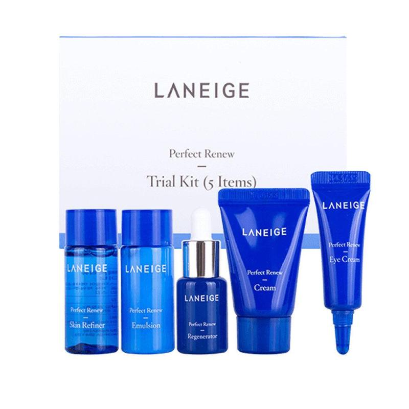 Buy Laneige Perfect Renew Trial Kit (5 items) - MissDewy Singapore