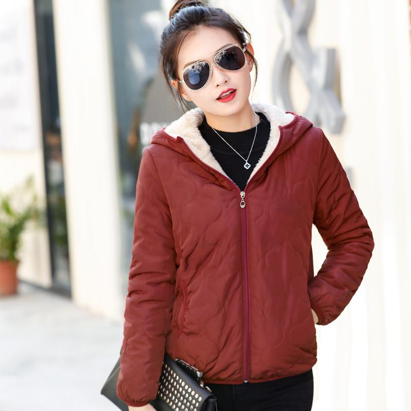 81ee378dc618a 2018 New Style Cotton-padded Clothes Female Short Cotton-padded Jacket plus  Velvet down