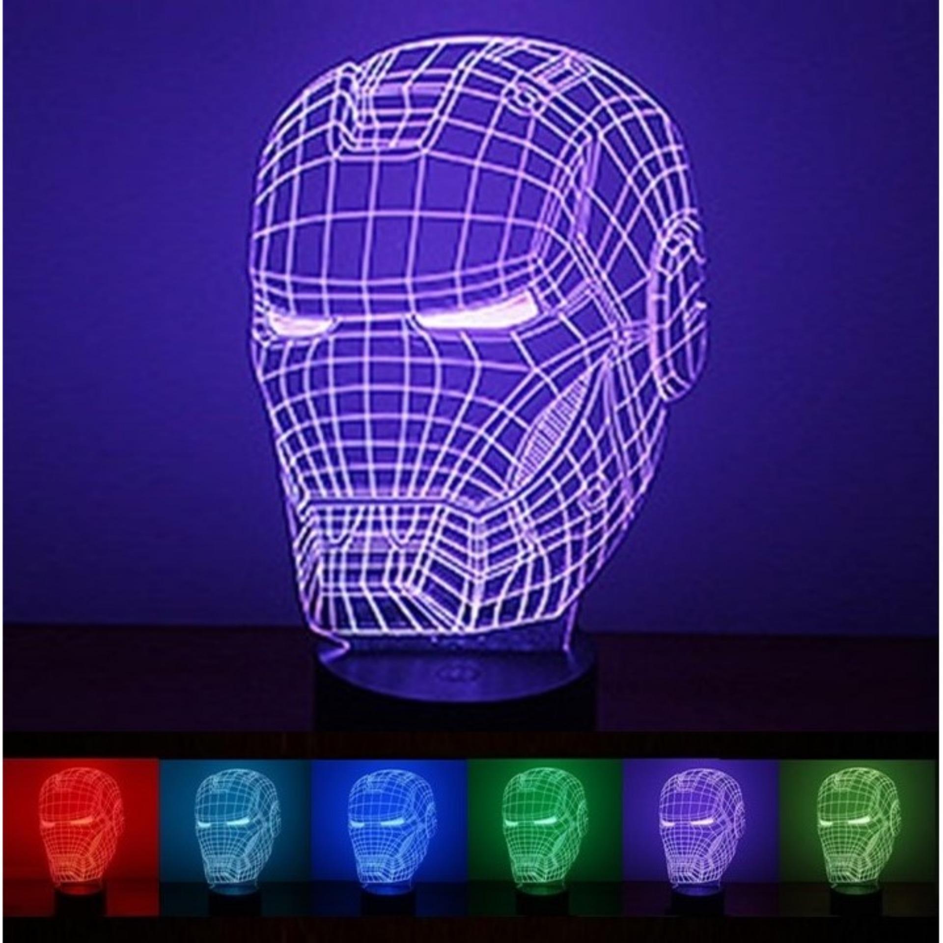 3D Iron Man (钢铁人) 7 Color Change Night LED Table Light Lamp