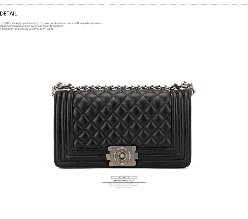afff95d1086d Product details of [New Arrival] TOYBOY LUXURY series Lambskin bag  25cm(black color) CHANEL FUN-头层羊皮黑色