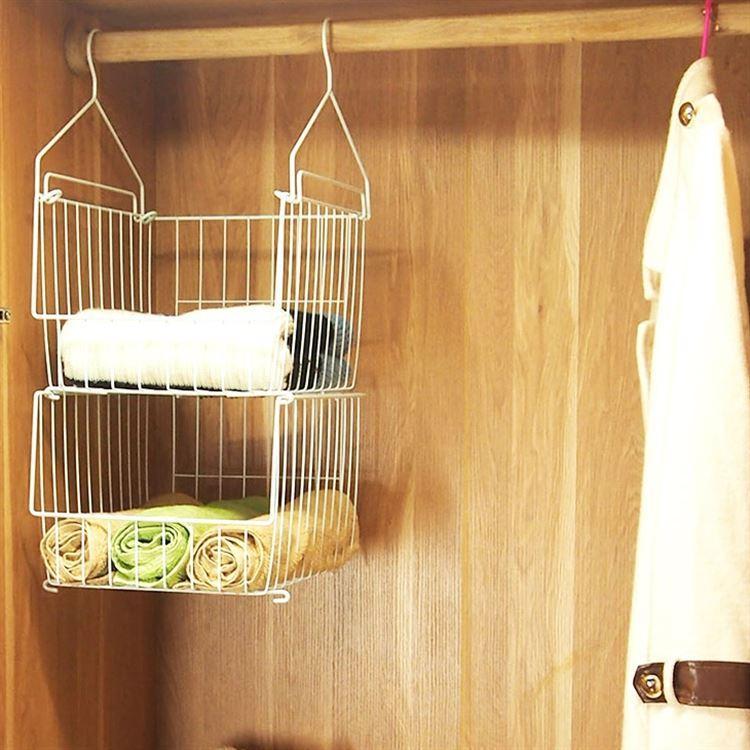 Closet Hanging Storage Shelf Layered Hanging Storage Bag Underwear Socks Clothing Storage Light