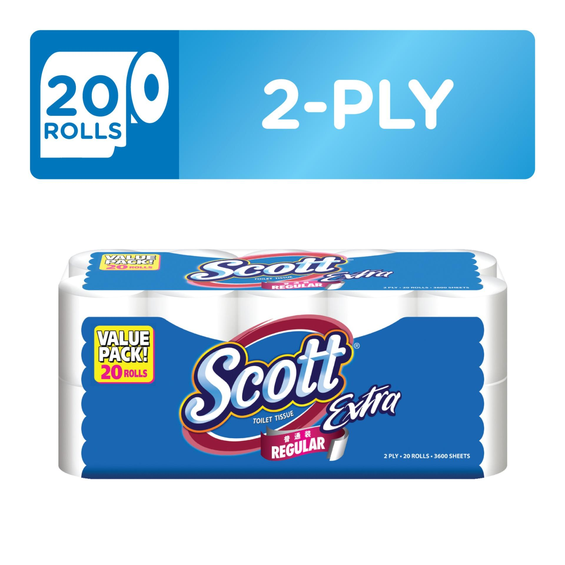 Scott Extra Toilet Tissue Regular 20x180sheets. By Kimberly Clark Official Store.