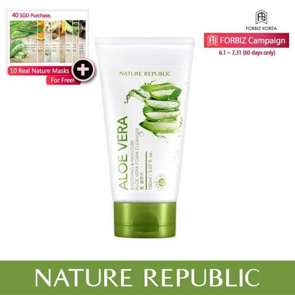 Best Price Nature Republic Soothing Moisture Aloe Vera Foam Cleanser