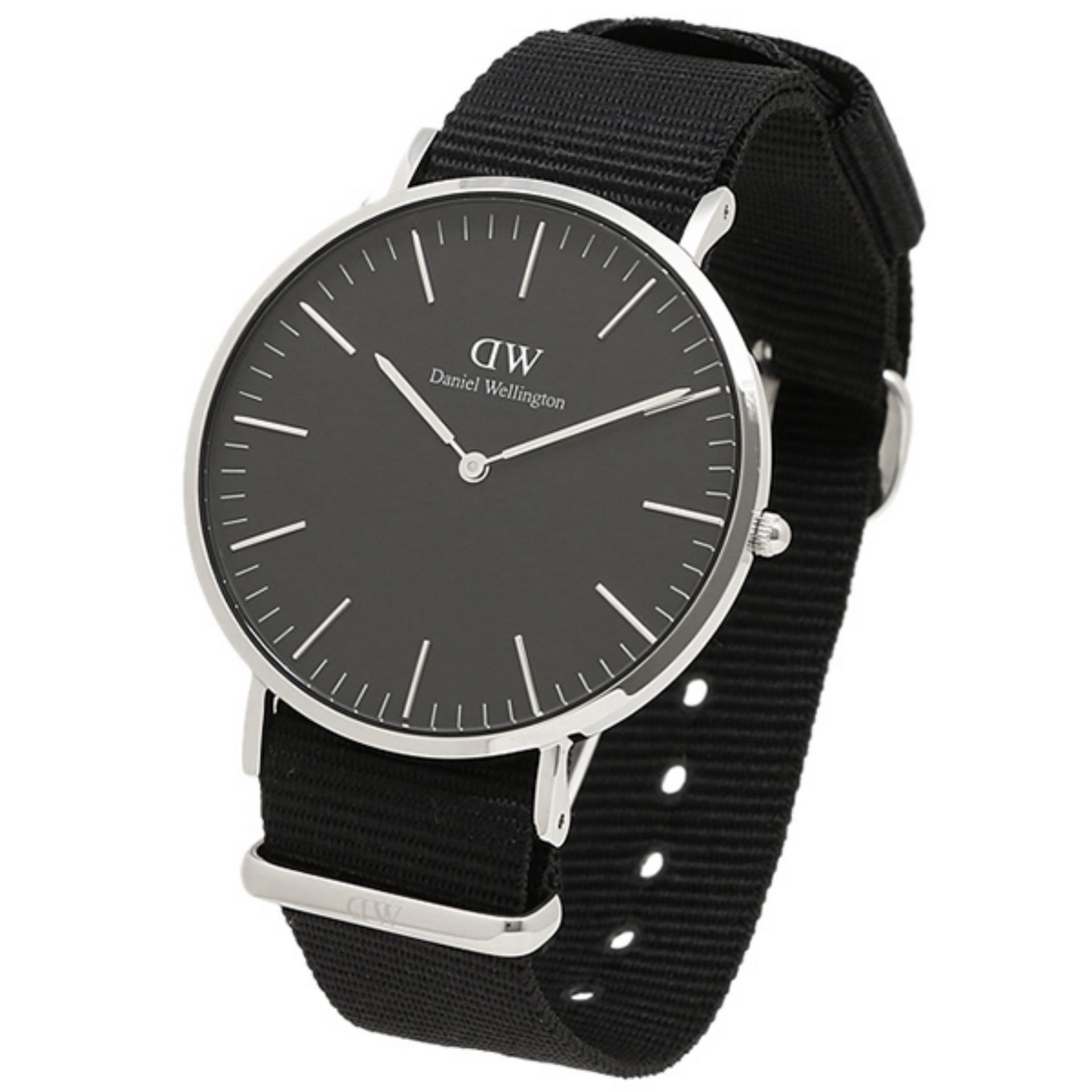 Daniel Wellington Classic Black Cornwall 40mm Silver DW00100149