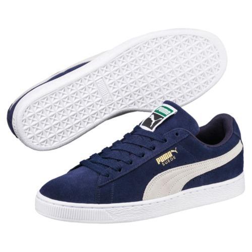 Singapore. Puma Suede Classic + Men Sneakers - peacoat-whitepeacoat-white 3dc9a911ba1d