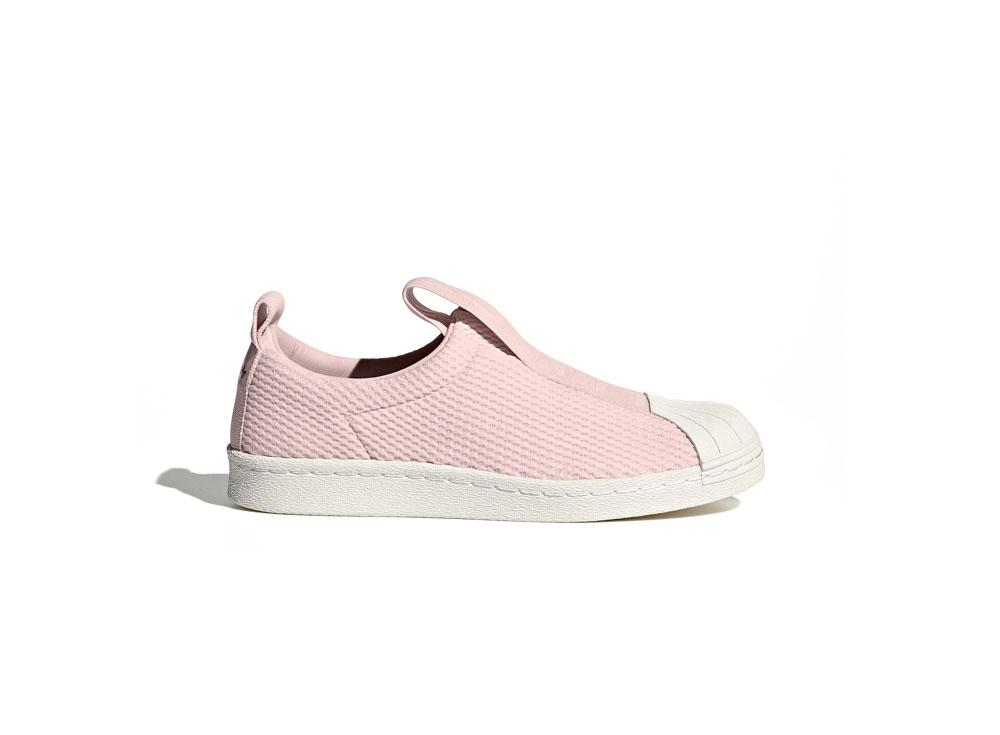 newest 42ce7 9f1bf adidas Originals Superstar BW Slip-On Wmns BY9138 Ice Pink White