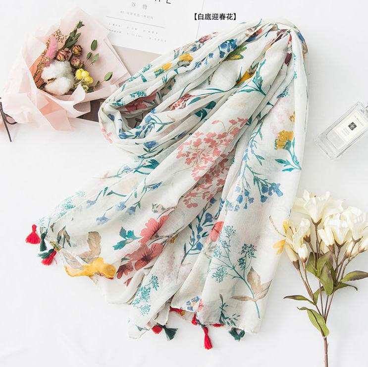 2017 Spring New Style Scarf Womens Korean Style Long Literature And Art Silk Scarves Shawl Seaside Sun-Resistant Summer Thin Dual Purpose By Taobao Collection.