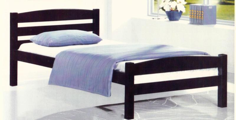 [A-STAR] Minnie Solid Wooden Bed in Super Single size