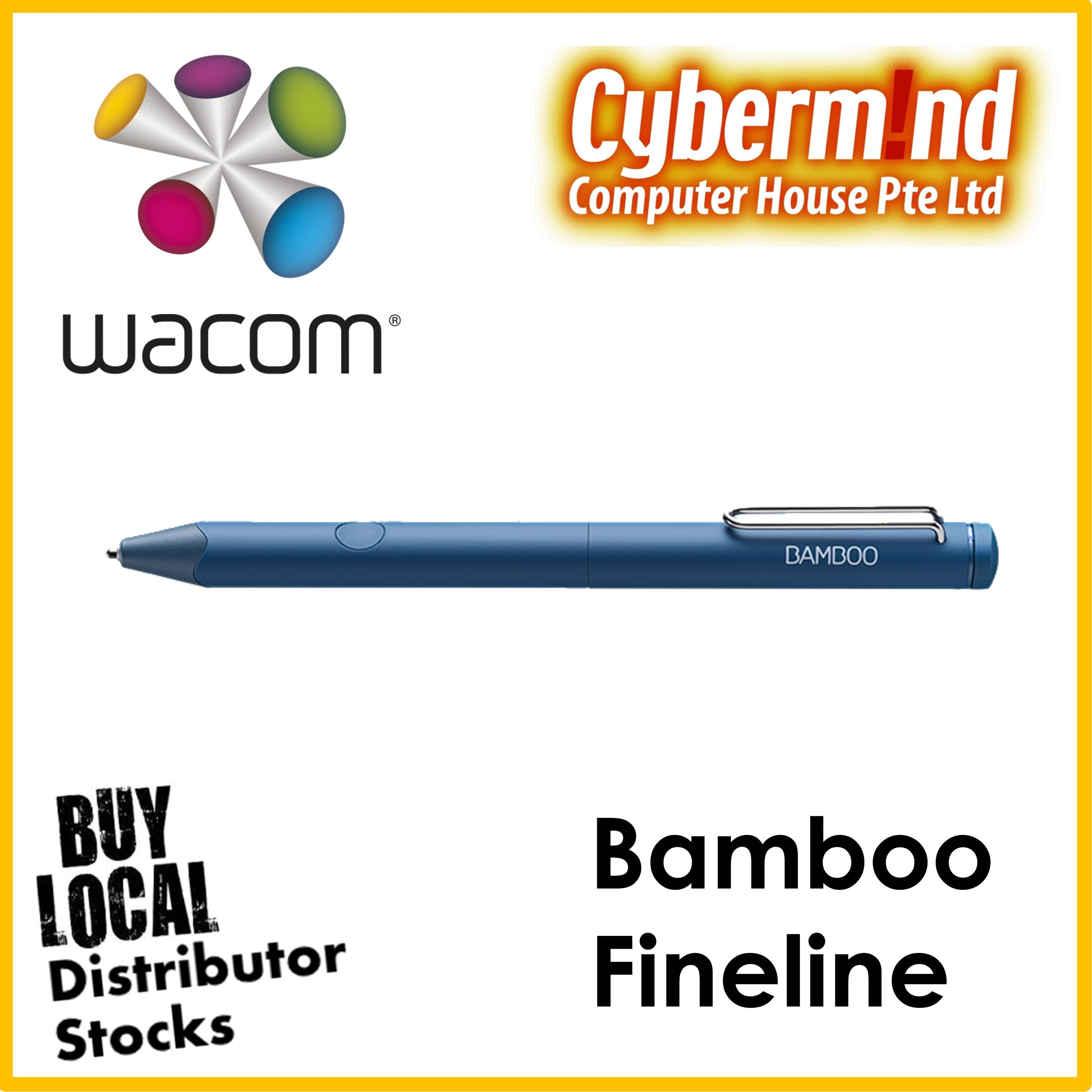 Wacom Bamboo Fineline 3rd Generation (color: Blue Or Black) By Cybermind.
