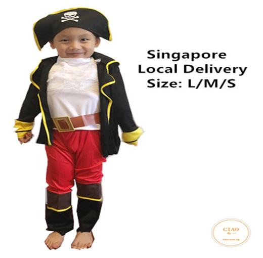 bf37121ae73 Ciao Cartoon Pirate Captain Children Costume Gift Cosplay Set