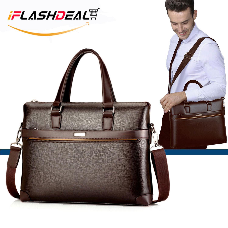 7c0e044eb2 iFlashDeal Men Business Bag Briefcase PU Leather Shoulder Bag Laptop Bag  Messenger Sling Bags