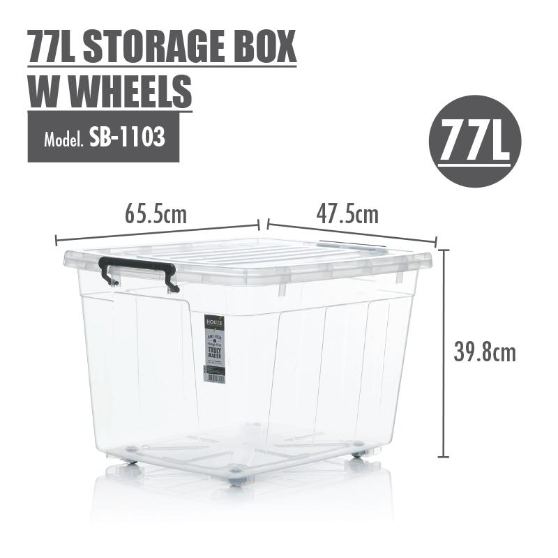 HOUZE - 77L Storage Box with Wheels