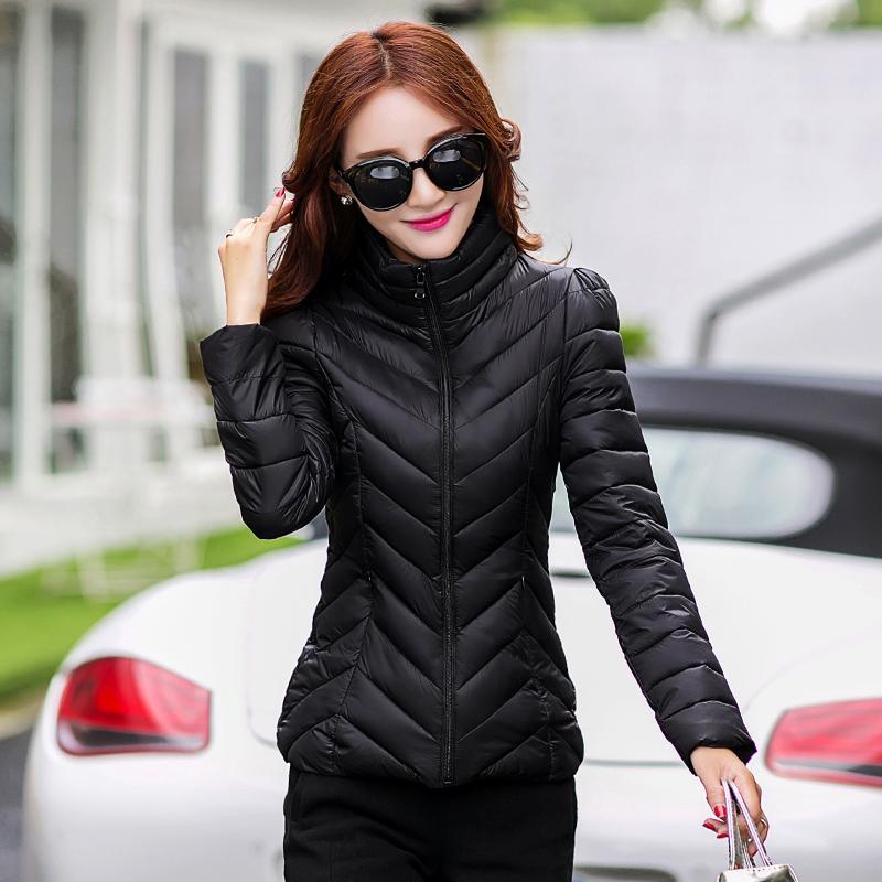 edadad3ce18 Down Jacket Cotton-padded Clothes Women's Dress Autumn & Winter Coat  Fashion Slim Fit Lightweight