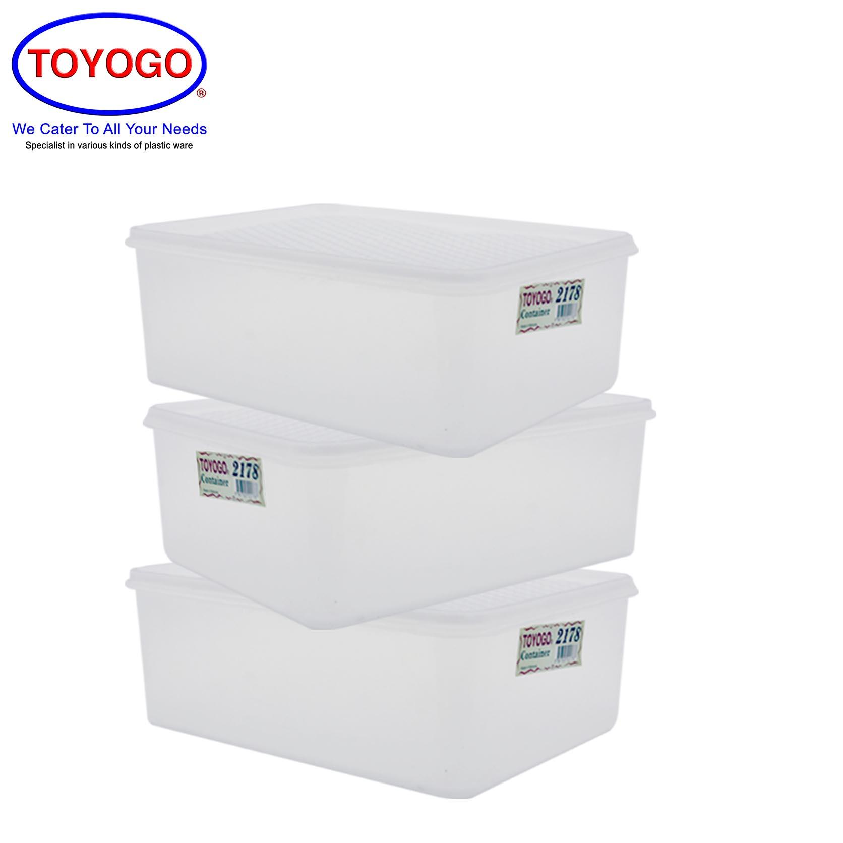 Toyogo Rectangular Box (Bundle of 3) (2178)