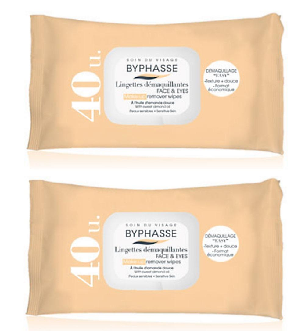 Wholesale Byphasse Make Up Remover Wipes 40 S Sensitive Skin X2 Pkt