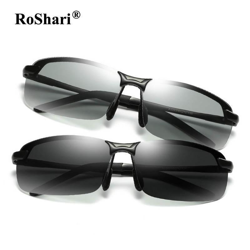 8660c2ab938 Driving Photochromic Sunglasses Men Polarized Chameleon Discoloration Sun  glasses for men eyeglasses