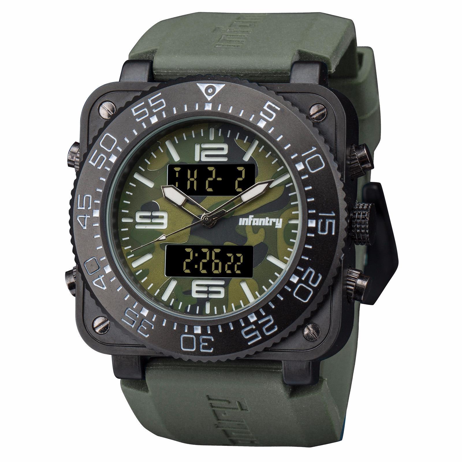 d333fd23f558 INFANTRY Mens Digital Quartz Wrist Watch Stopwatch Alarm Sport LCD  Chronograph