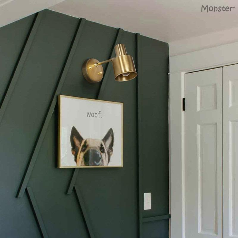 Brass Wall Lamp Nordic Scandinavian Morden Minimalist Classical Retro Creative Design Bedroom Bathroom Aisle Corridor Energy Saving