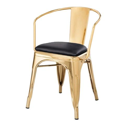 JIJI Tulox Chair 45cm (Free Installation) - Designer chairs / Dining Chair / Metal Frame chair / Chrome Chair / 12 Month Warranty / (SG)
