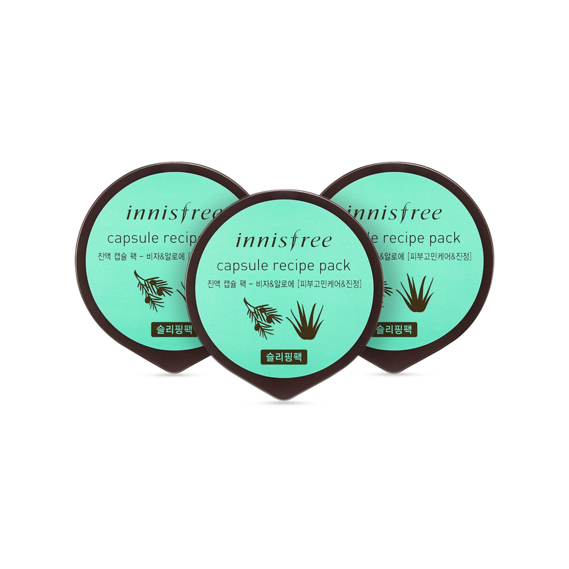 Discount Innisfree Capsule Recipe Pack Bija Aloe 10Ml X 3 Pcs Singapore