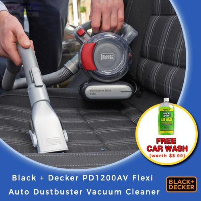 Black And Decker PD1200AV 12V Flexible Car Vacuum Cleaner + FREE SG Car Wash 20oz Singapore