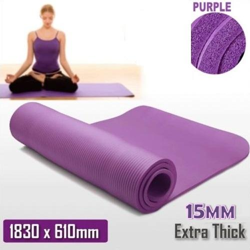 Buy 48 Hours Deliver 15Mm Nbr Foam Yoga Mat Yoga Fitness Mat Purple Cheap On Singapore