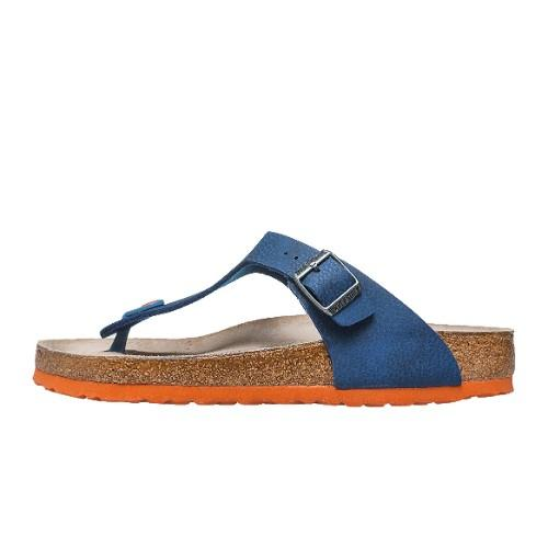 0563bfd8a69 Birkenstock Gizeh Soft Footbed Sandals in Desert Soil Blue