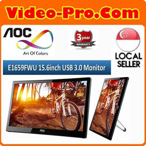 AOC E1659FWU 15.6inch USB 3.0 Powered Monitor 3 Years Local Warranty