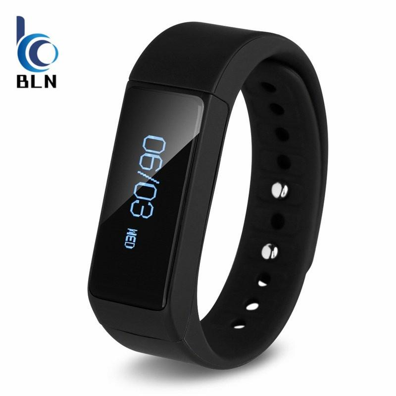 【Bln Tech】I5 Plus Smart Bracelet Bluetooth 4 Waterproof Touch Screen Fitness Tracker Health Wristband Sleep Monitor Smart Watch Black Best Buy