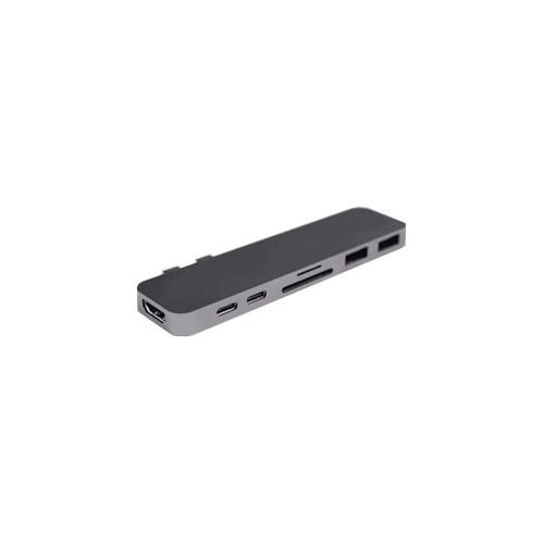 HyperDrive Duo Hub Thunderbolt 3 USB-C 2016 2017 MacBook Pro 13 15 Gray Sanho