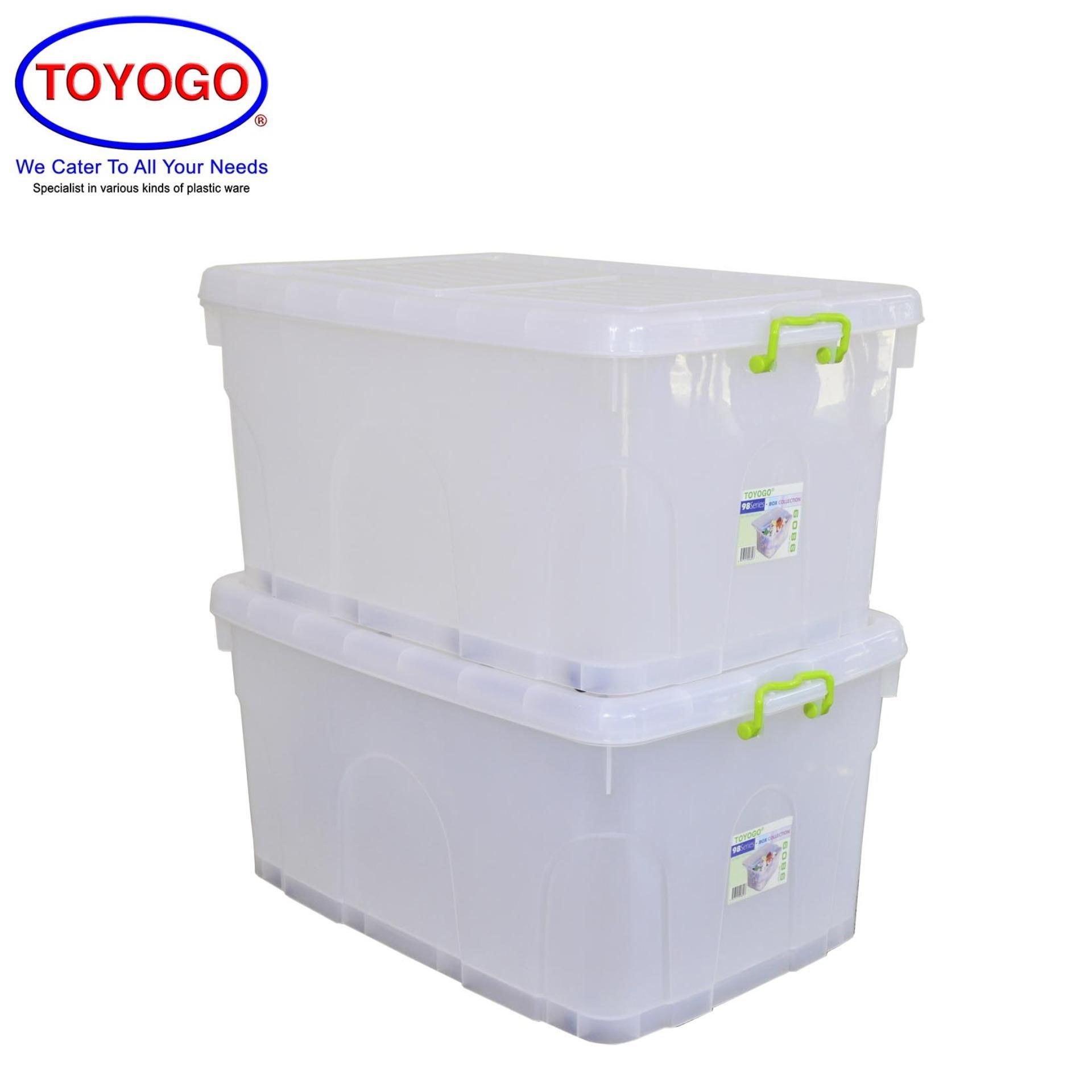 Toyogo Storage Box With Wheels (Bundle of 2) (9809)