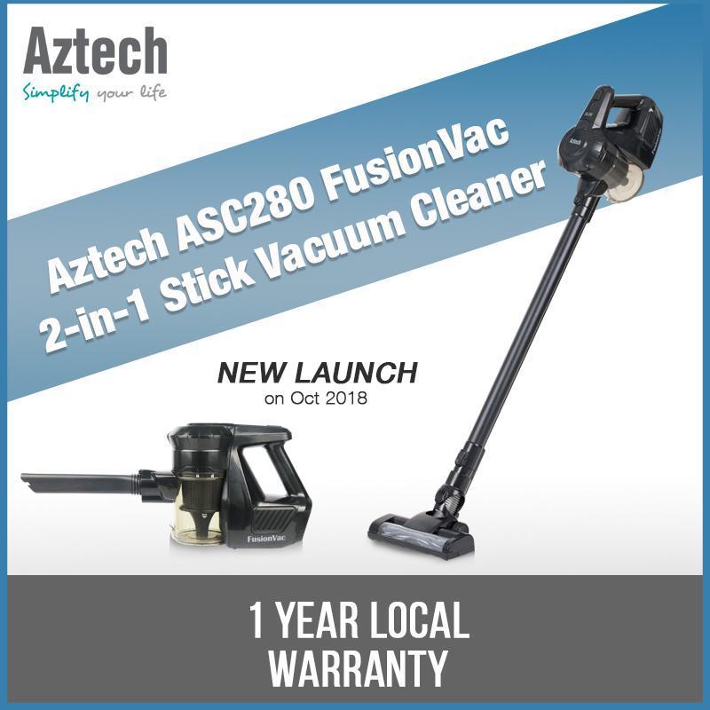 Aztech ASC280 FusionVac 2 in 1 Stick Vacuum Cleaner  1 Year Local Warranty Singapore