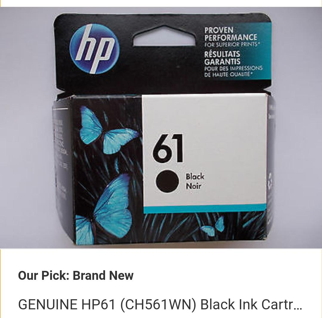 Genuine HP 61 Black Ink Cartridge CH561WN