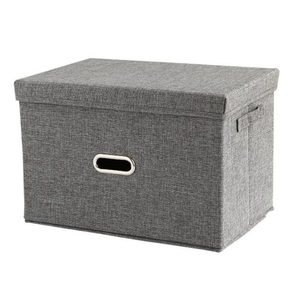 feng quan Japanese Style Clothes Storage Box with Cap Foldable Finishing Box Underwear Composition Compartment Wardrobe Storage Box Fabric