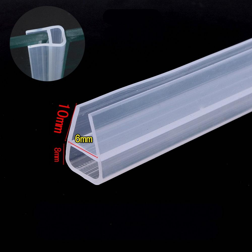 Collision Avoidance Weather Strip Sliding Door Window Screen Seals for 6mm Thick Glass 3 Meters Transparent - intl