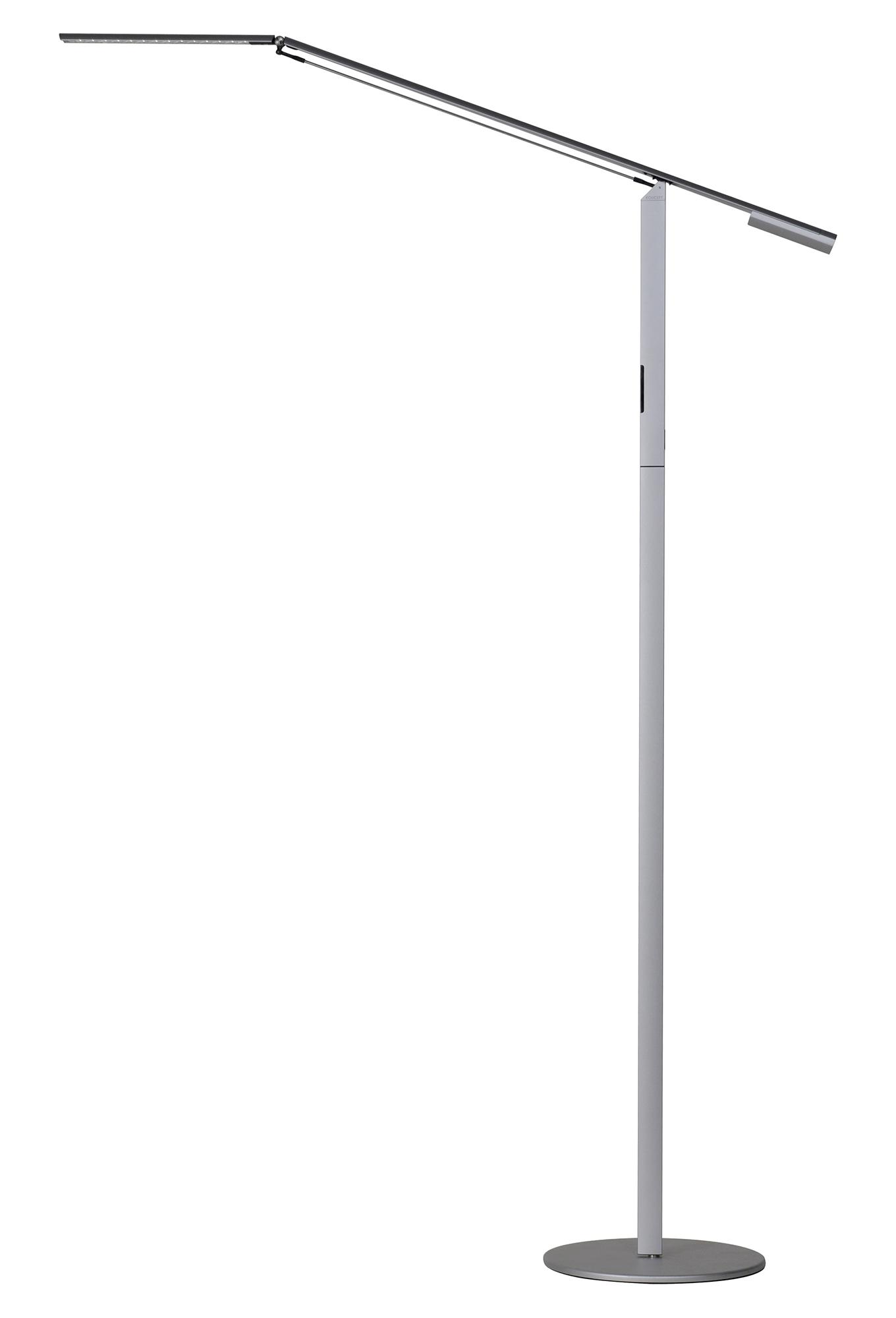 Koncept ELX-A-W FLR LED Floor Lamp Equo 28 Mid Power Daylight Touch Sensitive Dimmer 6 Watts Rotational LED Panel