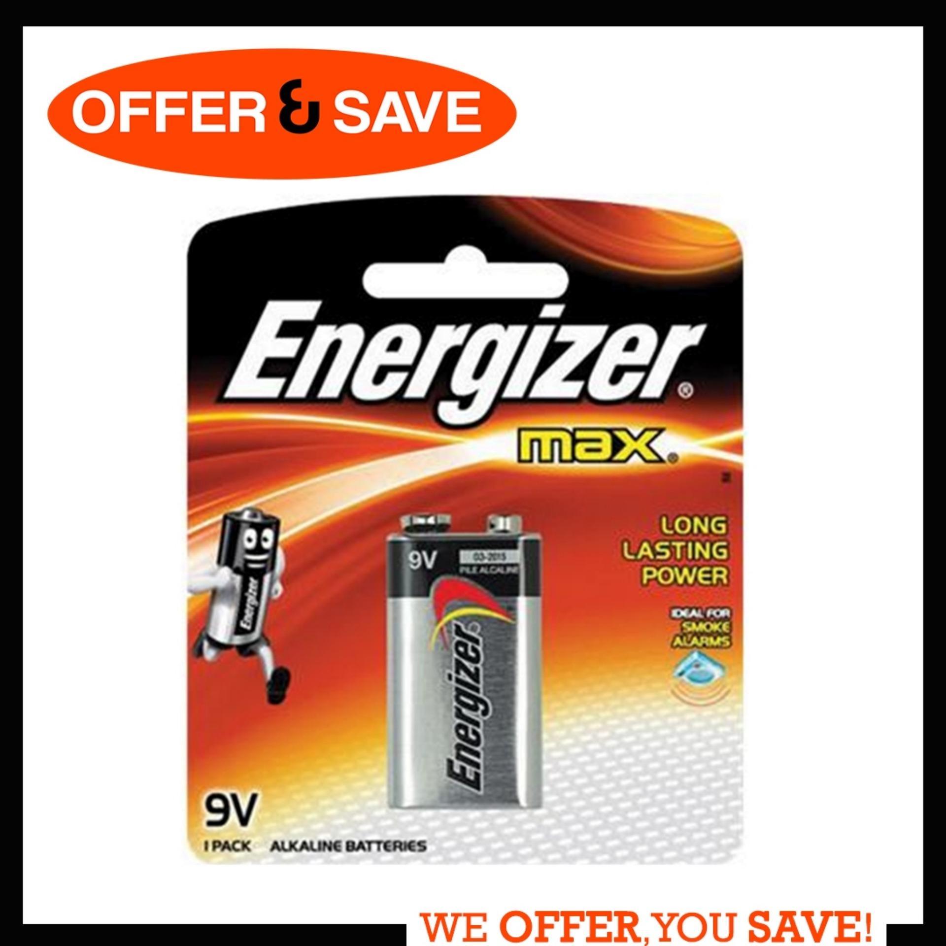 Energizer Max 9v Alkaline Battery By Offer & Save.