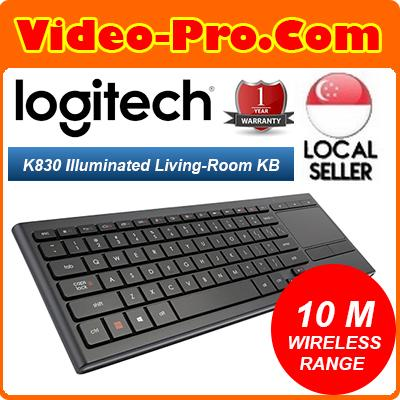 Logitech K830 Illuminated Living-Room Wireless KB and Touchpad for Internet-Connected TVs 920-007182 Singapore