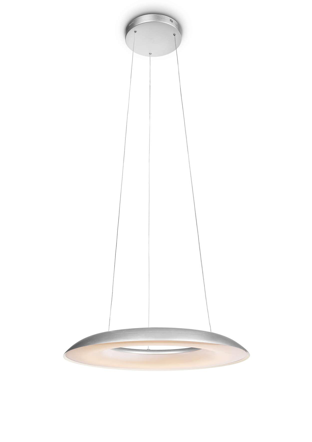 Philips Ayr LED Pendant White/Alu 25W
