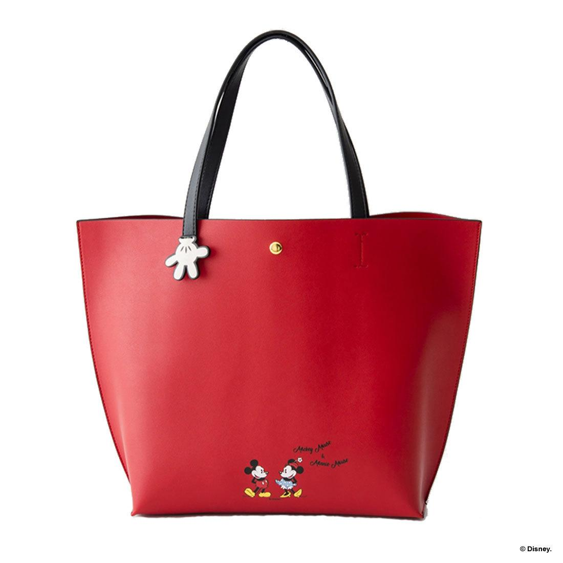 99154c0795 Colors by Jennifer Sky Disney Mickey Minnie faux leather glove handle  medium tote bag
