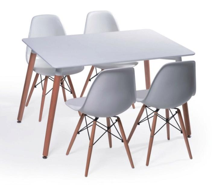 1+4 Jim Dining Set (black/white)