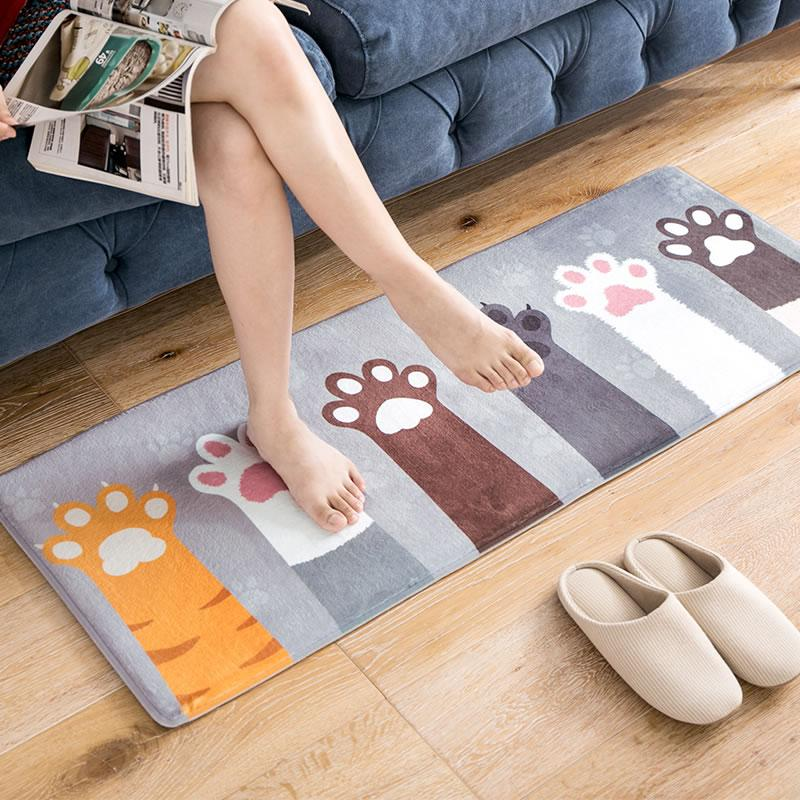 Long Non-slip Cute Cat Paw Pad Mat