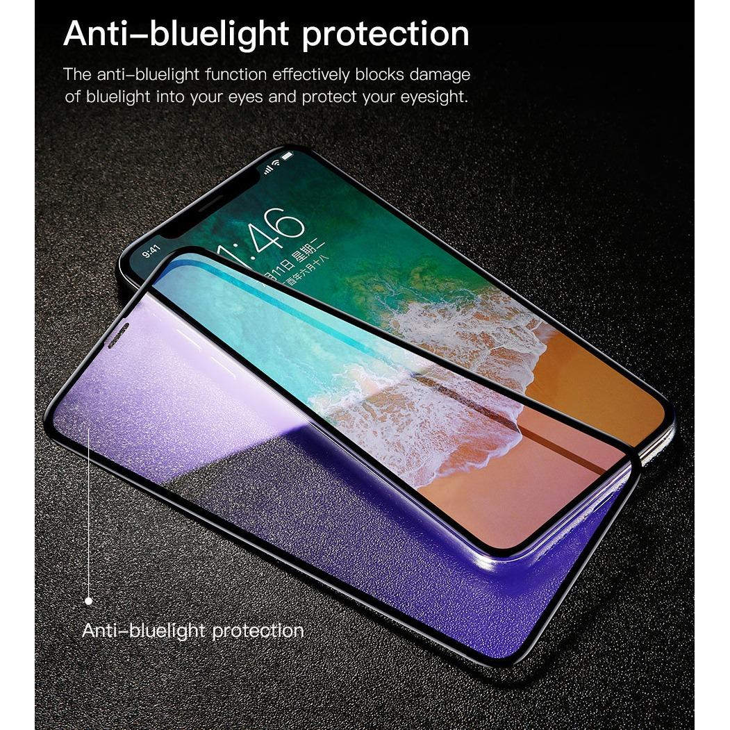 Sale Baseus Iphone X 3Mm Silk Screen 4D All Screen Anti Bluelight Tempered Glass Film Baseus Branded